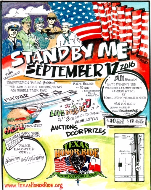 Stand By Me Texas Honor Ride Conroe Texas Saturday, September 17, 2016 bikers motorcycle charity events
